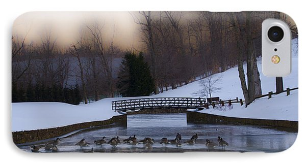 Overbrook Golf Club In Winter IPhone Case by Bill Cannon