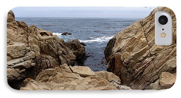 Overcast Day At Pebble Beach Phone Case by Glenn McCarthy Art and Photography