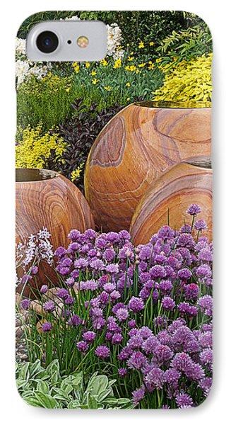 Overflowing Joy In The Flower Graden IPhone Case by Gill Billington