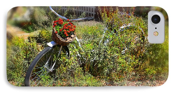 Overgrown Bicycle With Flowers IPhone Case by Mike McGlothlen