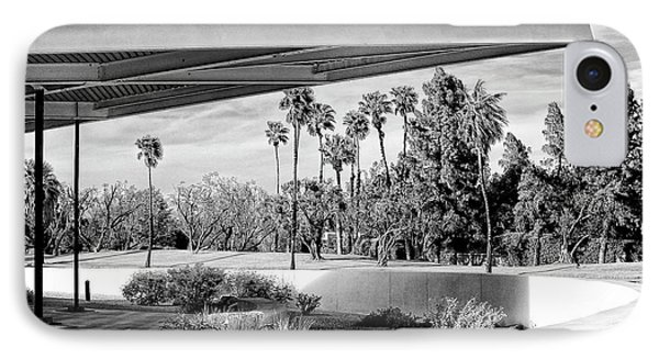Overhang Bw Palm Springs Phone Case by William Dey