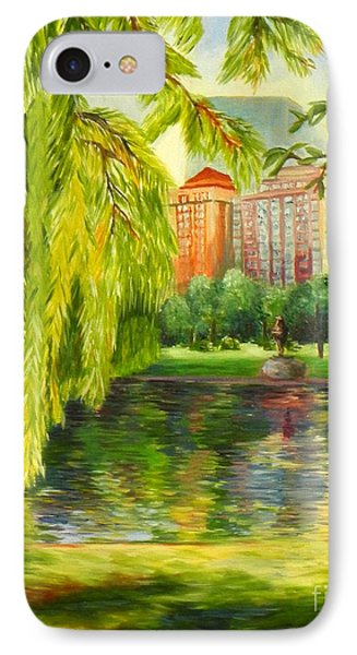 Overlooking Boston IPhone Case by Shelia Kempf