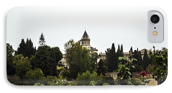 Overlooking The Alhambra On A Rainy Day - Granada - Spain IPhone Case