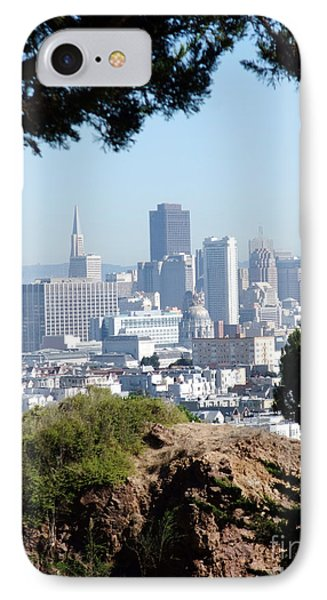 Overlooking The City By The Bay San Francisco  Phone Case by Jim Fitzpatrick
