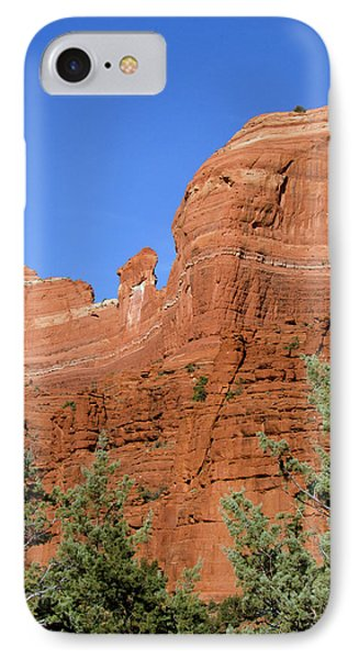 Overpowering Red Rock Wall IPhone Case by Jan and Stoney Edwards