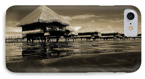 Overwater Bungalows  IPhone Case by Zinvolle Art