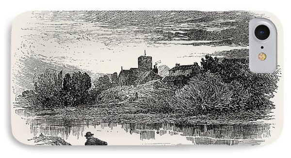 Ovingham, Is A Civil Parish And Village In The Tyne Valley IPhone Case by English School