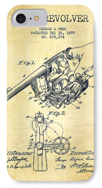 Owen Revolver Patent Drawing From 1899- Vintage Phone Case by Aged Pixel