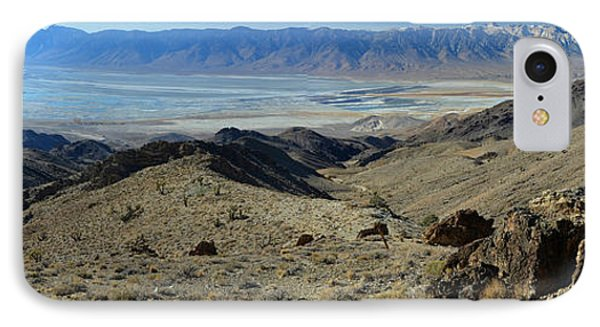 Owens Lake And Sierra Nevada Panorama November 17 2014 IPhone Case