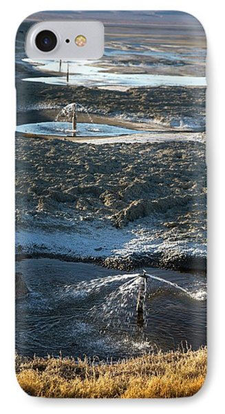 Owens Lake Re-irrigation IPhone Case by Jim West