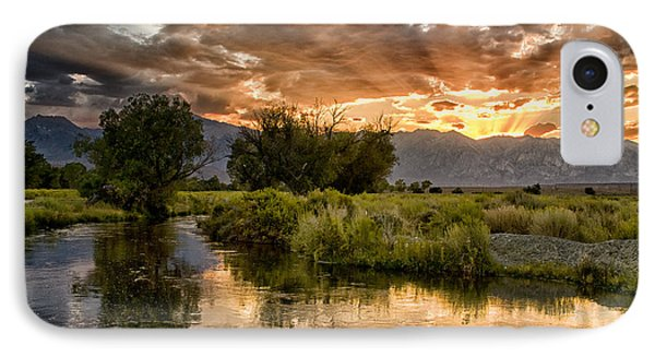 Owens River Sunset IPhone Case by Cat Connor