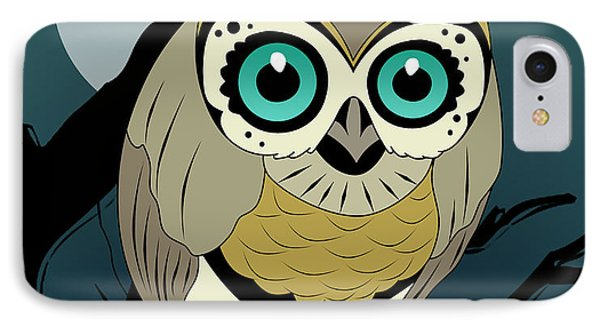 Owl 3 IPhone Case by Mark Ashkenazi