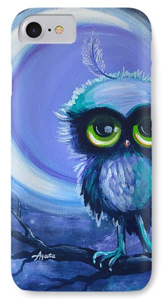 IPhone Case featuring the painting Owl Be Brave by Agata Lindquist