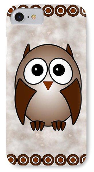 Owl - Birds - Art For Kids IPhone Case