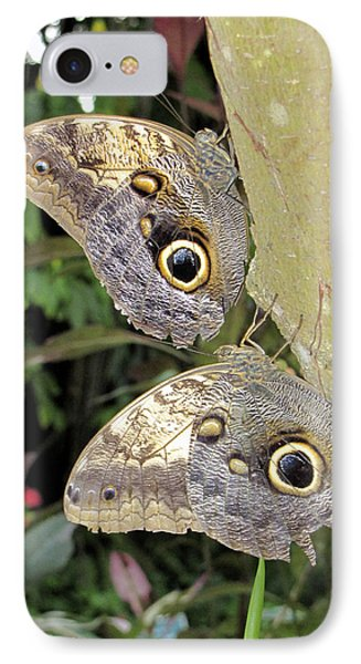 Owl Butterflies IPhone Case by Bob Slitzan