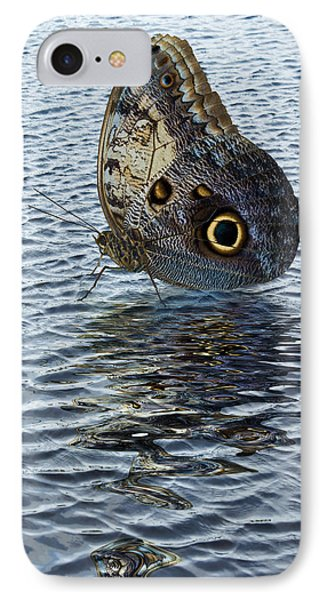 IPhone Case featuring the photograph Owl Butterfly On Water by Jane McIlroy