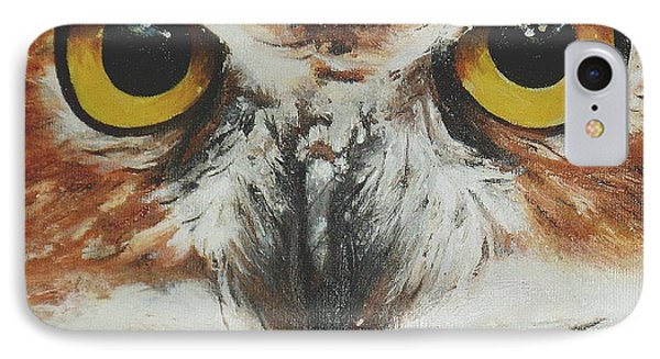 IPhone Case featuring the painting OwL by Cherise Foster