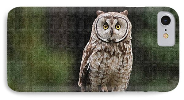 Owl In The Forest Visits IPhone Case by Tom Janca