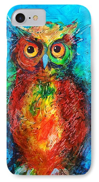 Owl In The Night IPhone Case by Faruk Koksal