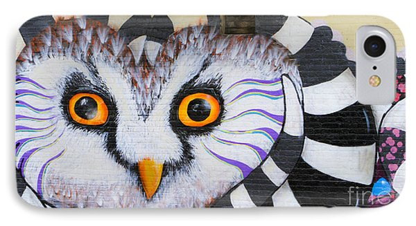IPhone Case featuring the photograph Owl Mural by Ricky L Jones