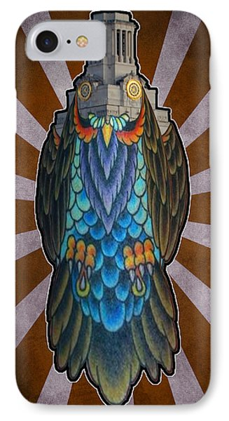 Owl Of The Tower IPhone Case by Ismael Cavazos
