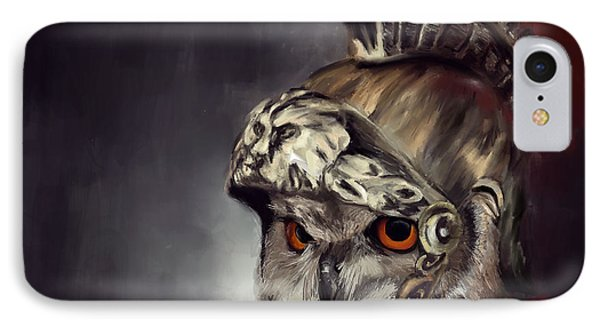 Owl Roman Warrior IPhone Case