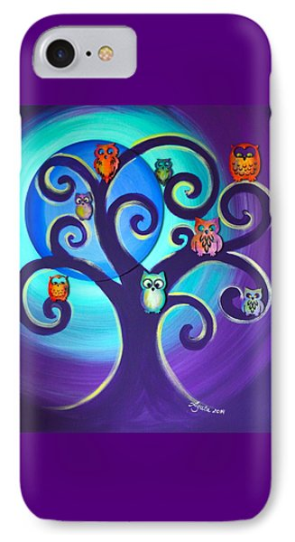 Owl Sweet Family IPhone Case by Agata Lindquist