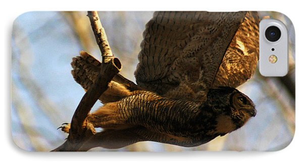 Owl Take Off Phone Case by Raymond Salani III