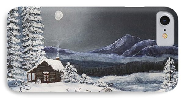 Owl Watch On A Cold Winter's Night Original  IPhone Case by Kimberlee Baxter