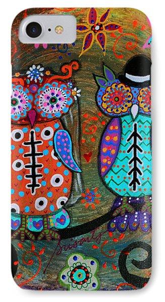 Owl Wedding Dia De Los Muertos IPhone Case