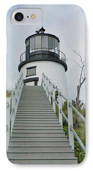 Owls Head Lighthouse IPhone Case by Jean Goodwin Brooks