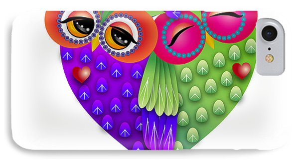 Owl's Love IPhone Case by Isabel Salvador