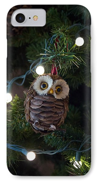 IPhone Case featuring the photograph Owly Christmas by Patricia Babbitt