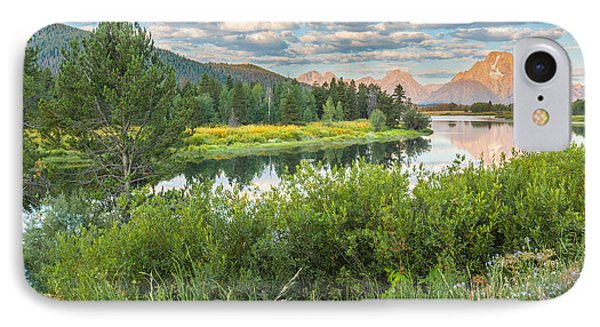 Oxbow Bend Summer Sunrise - Grand Teton National Park IPhone Case by Andres Leon