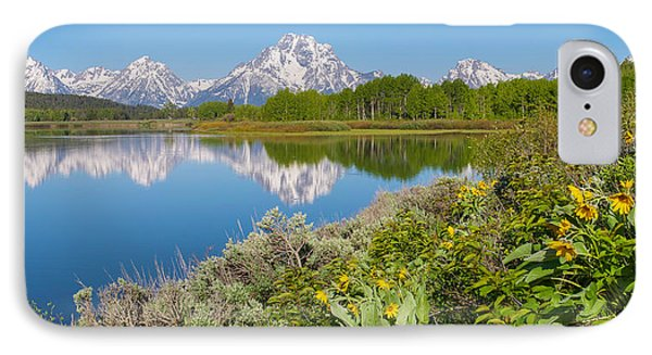 IPhone Case featuring the photograph Oxbow Bend Wildflowers In Spring by Aaron Spong