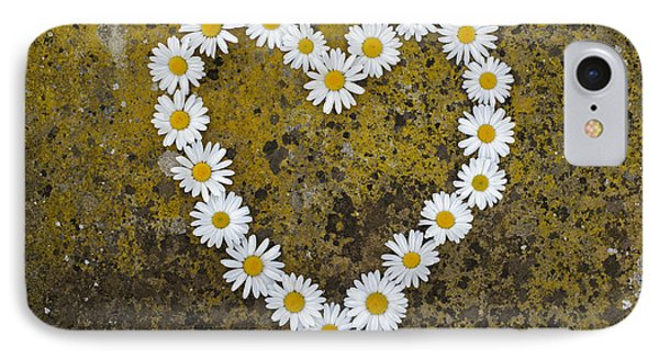 Oxeye Daisy Heart Phone Case by Tim Gainey