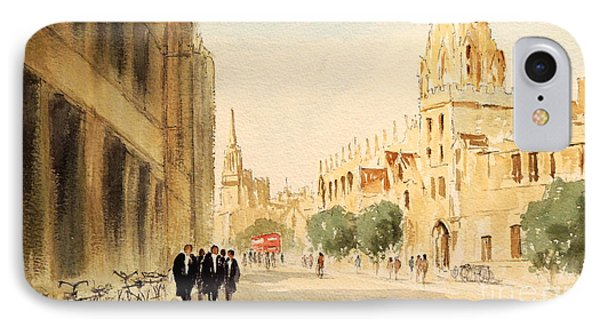 IPhone Case featuring the painting Oxford High Street by Bill Holkham