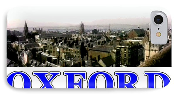 Oxford Snapshot Panorama Rooftops 2 Jgibney The Museum Zazzle Gifts Phone Case by The MUSEUM Artist Series jGibney