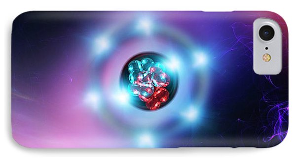 Oxygen Atom IPhone Case by Richard Kail