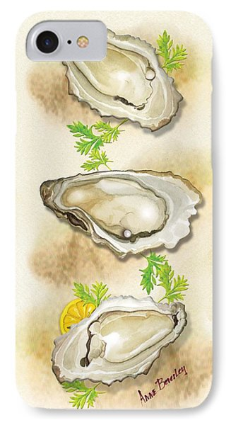 IPhone Case featuring the painting Oysters Three by Anne Beverley-Stamps