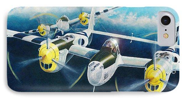 P-38 Lightnings IPhone Case by Douglas Castleman