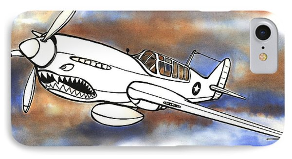 P-40 Warhawk 1 IPhone Case by Scott Nelson