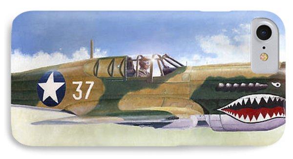 P-40e Warhawk IPhone Case by Douglas Castleman