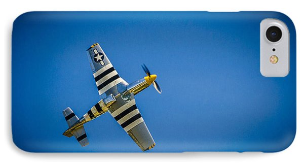 IPhone Case featuring the photograph P-51 Invasion Stripes by Bradley Clay