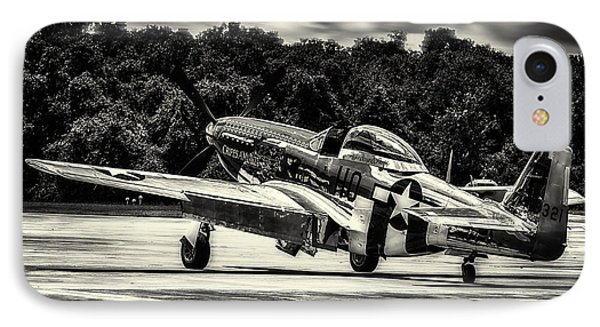 P-51 Mustang In Hdr IPhone Case by Michael White