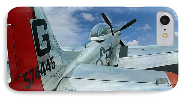 IPhone Case featuring the photograph P-51 Mustang Pecos Bill by Rod Seel