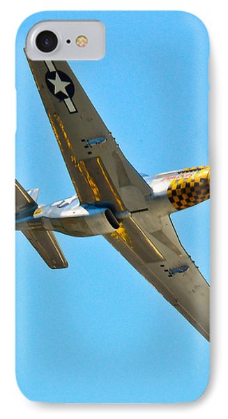 P-51 Mustang Wing Over Phone Case by Puget  Exposure