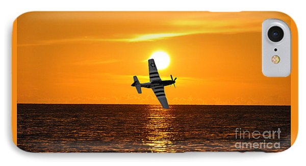 P-51 Sunset IPhone Case by John Black