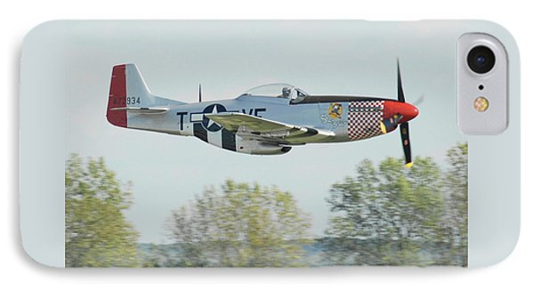 P-51d Mustang Shangrila IPhone Case by Alan Toepfer