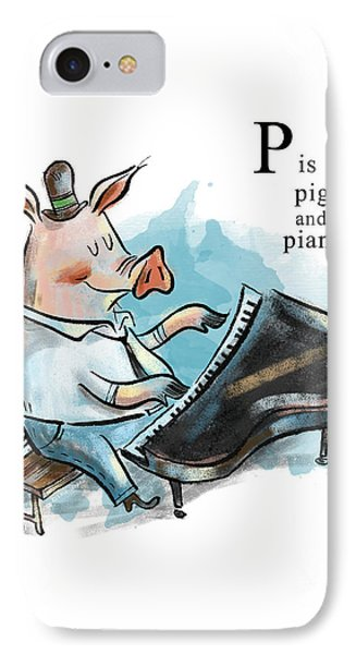 P Is For Pig IPhone Case